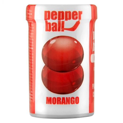 Bolinhas Funcional Pepper Ball Plus Sabor Morango Dupla (3G) 1