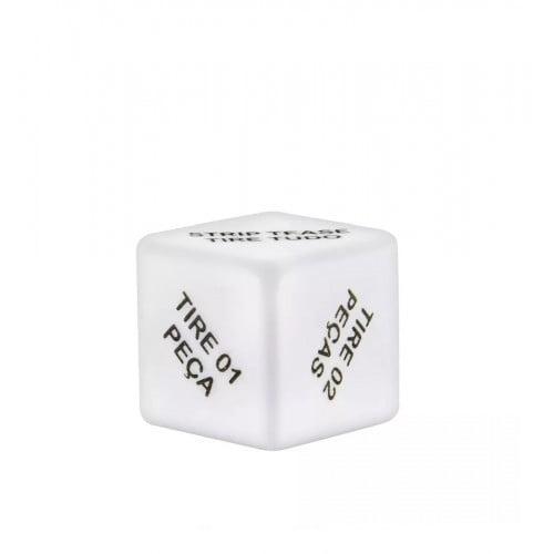 Dado Strip Tease Unissex com Chaveiro Diversão ao Cubo 1