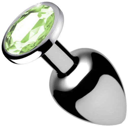Plug Anal Aço Inox Verde 7x2,8cm (Gtoys)