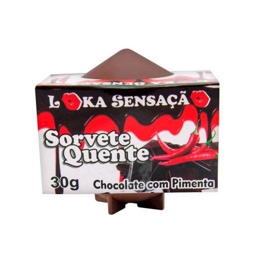 Sorvete Quente Sabor Chocolate com Pimenta (Loka Sensação)