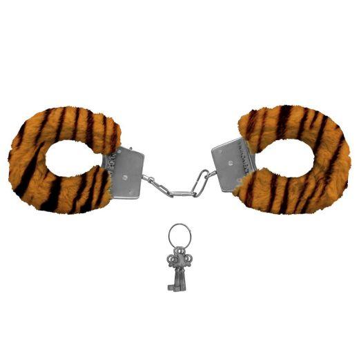 Algemas de Metal Revestida com Pelúcia Tigre Fur Love Cuffs (Miss Collection)