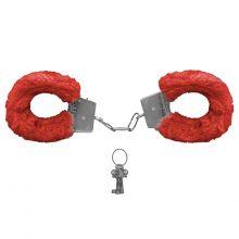 Algemas de Metal Revestida com Pelúcia Vermelha Fur Love Cuffs (Miss Collection)