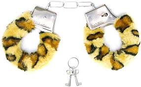 Algemas de Metal Revestida com Pelúcia Onça Fur Love Cuffs (Miss Collection) 1