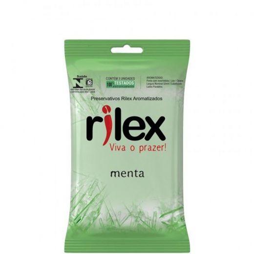 Preservativos Rilex Menta - pct 3 unidades