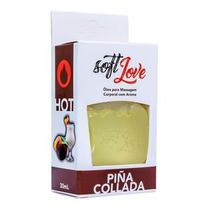 Gel Comestivel Hot 30ML Soft Love - Pina Colada 1