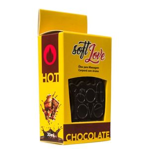 Gel Comestivel Hot 30ML Soft Love - Chocolate 1