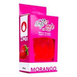 Gel Comestível Hot 30ML Soft Love - Morango 1