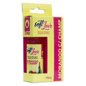 Gel Comestível Hot 15ML Soft Love - Morango Com Shampagne 1