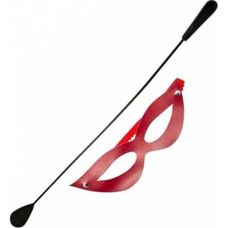 Kit com Chibata e Máscara Vermelha Muito Sensual DOMINATRIXXX 1