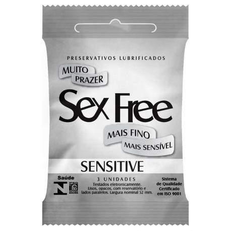 Preservativo Sensitive com 3 Unidades 1